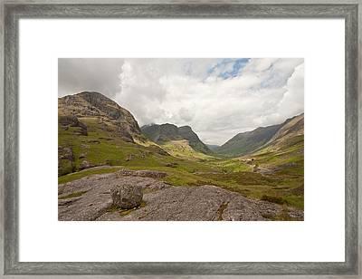 Pass Of Glencoe Framed Print