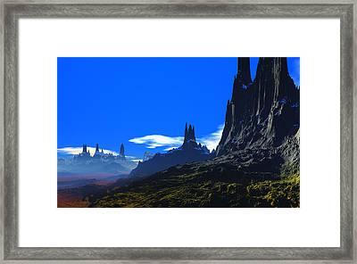 Pass Of Gormok Framed Print by David Jackson