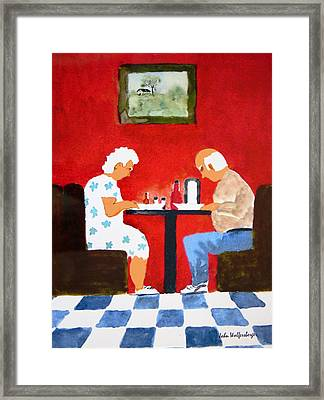 Pass The Ketchup Please Framed Print