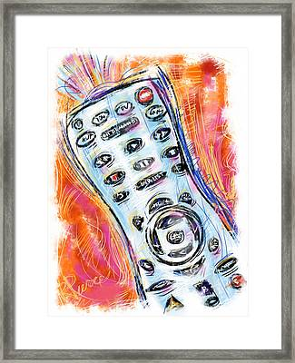 Pass The Remote Framed Print by Russell Pierce