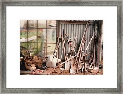 Pass The Shovel Framed Print by Vicki Ferrari