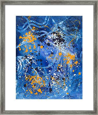 Passage A Travers La Galaxie 1 Framed Print by Dominique Boutaud