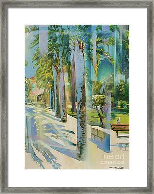 Passage Des Palmiers Framed Print by Lin Petershagen