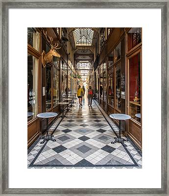Passage Du Grand Cerf Framed Print