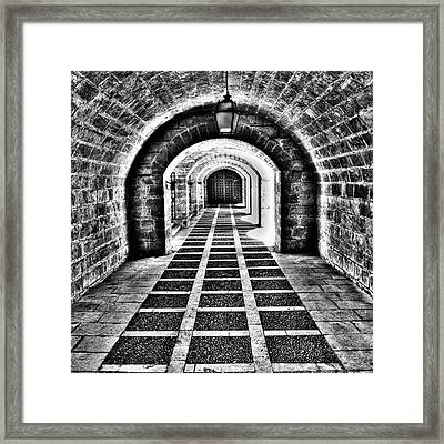 Passage, La Seu, Palma De Framed Print by John Edwards