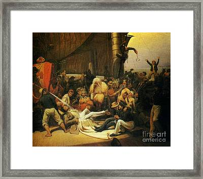 Passage Of The Line Framed Print by MotionAge Designs