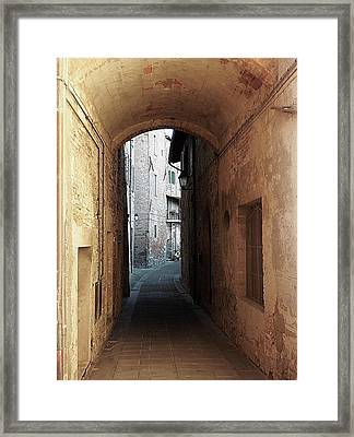 Passageway Low Colour Panicale Umbria Framed Print