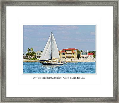 Passe A Grille Sailboat Framed Print