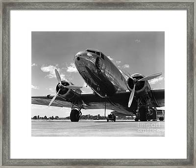 Passenger Airplane Framed Print by H. Armstrong Roberts/ClassicStock