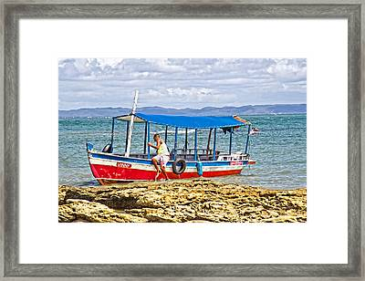 Framed Print featuring the photograph Passenger Boat by Kim Wilson