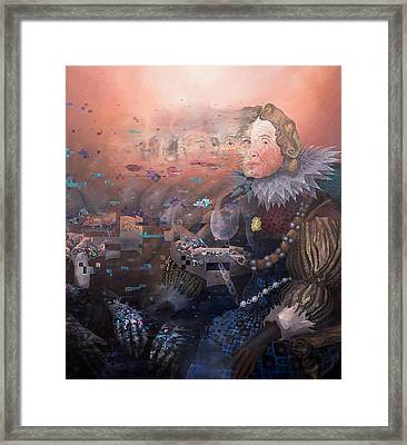 Framed Print featuring the painting Passing Beauty by Obie Platon