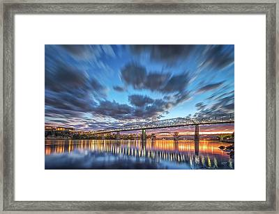 Passing Clouds Above Chattanooga Framed Print