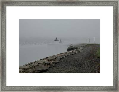 Framed Print featuring the photograph Passing In The Fog by Jeff Folger