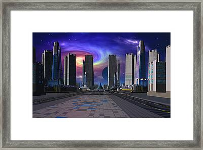 Passing Of The Dark Star Framed Print by David Jackson