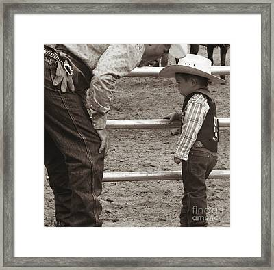 Passing On The Wisdom Framed Print