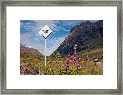 Passing Place Framed Print