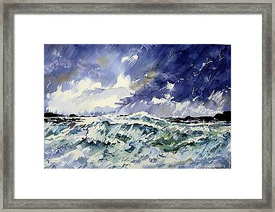 Passing Storm At The Blaskets  Framed Print by Wilfred McOstrich