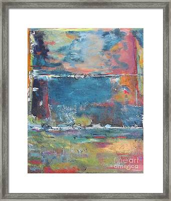 Passing Storm Framed Print by Chaline Ouellet