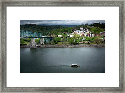 Passing Storm In Chattanooga Framed Print