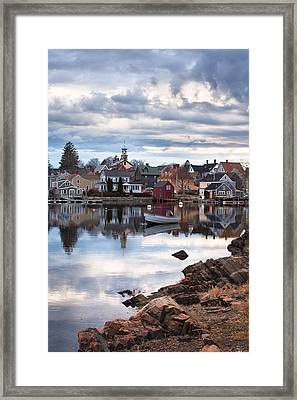Passing Storm In The South End Framed Print