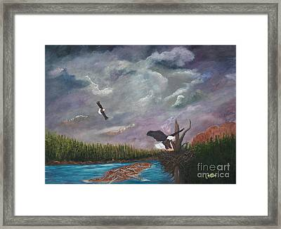Framed Print featuring the painting Passing Storm by Myrna Walsh