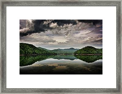 Passing Storm Over Lake Hiwassee Framed Print