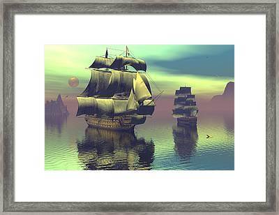 Passing The Manowar Framed Print