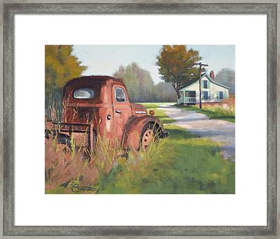 Passing Through Red Oak Framed Print by Todd Baxter