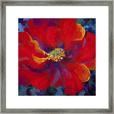 Passion - Red Poppy Framed Print by Marion Rose