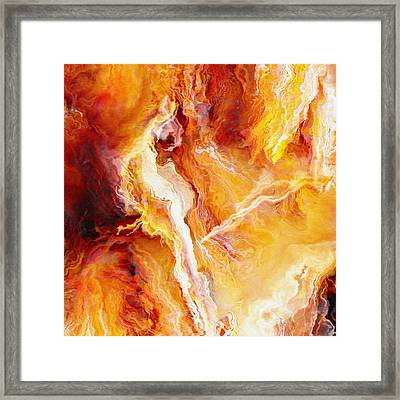 Passion - Abstract Art - Triptych 2 Of 3 Framed Print