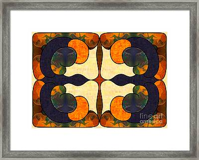 Passion And Pride Abstract Art By Omashte Framed Print by Omaste Witkowski