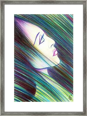 Framed Print featuring the drawing Passion Awakening by Danielle R T Haney