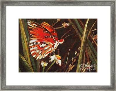 Passion Butterfly - Gulf Fritillary Framed Print