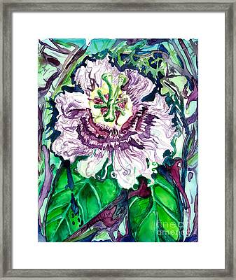 Passion Flower Framed Print by D Renee Wilson