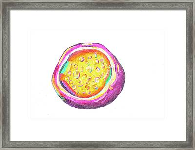 Passion Fruit Framed Print by Amy Diener