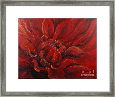 Passion II Framed Print by Nadine Rippelmeyer