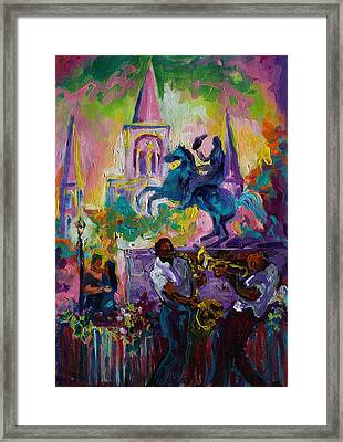Passion In The Park Jackson Square  Framed Print by Saundra Bolen Samuel