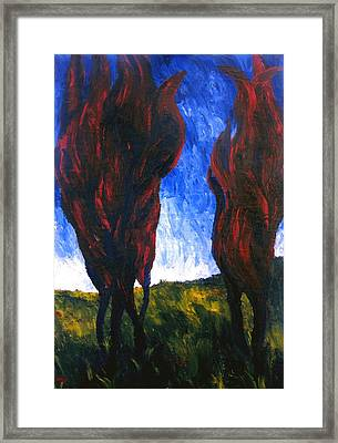 Passion Of Cypresses Framed Print by Alberto V  Donati