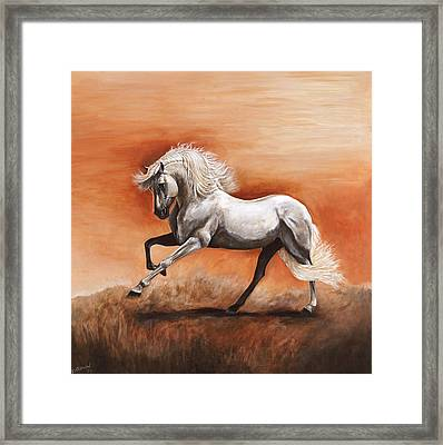Passion Framed Print by Paula Collewijn -  The Art of Horses