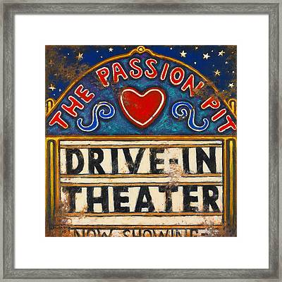 Passion Pit Framed Print by Janet  Kruskamp
