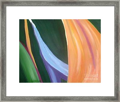 Passion Unfolding 1 Framed Print by Lori Jacobus-Crawford