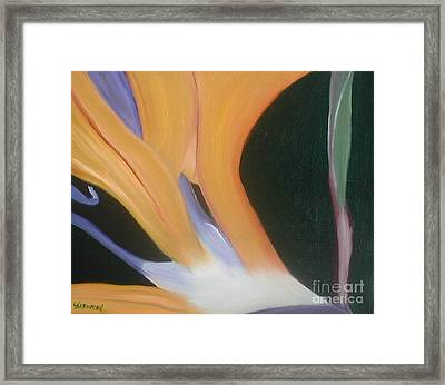 Passion Unfolding 2 Framed Print by Lori Jacobus-Crawford