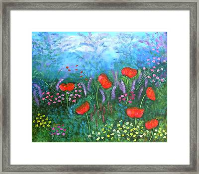 Passionate Poppies Framed Print by Alanna Hug-McAnnally