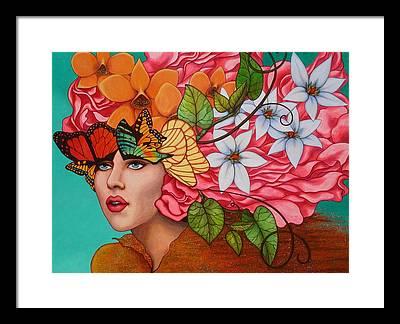 Flower Girl Framed Prints