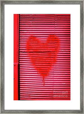 Passionate Red Heart For A Valentine Love Framed Print