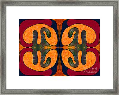 Passionate Stability Abstract Art By Omashte Framed Print by Omaste Witkowski