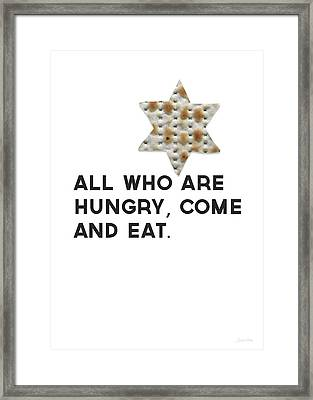 Passover Matzo- Art By Linda Woods Framed Print