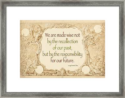 Past And Future- Quote Framed Print by Italian Art