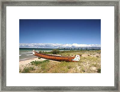 Past And Present Framed Print by G  Teysen