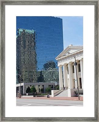 Past And Present Reflections Framed Print